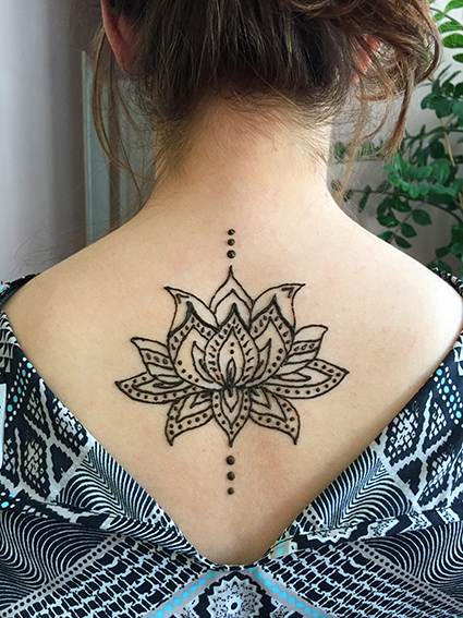 Mehndi Back Tattoo Designs