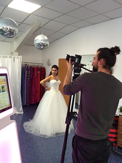 Videodreh bei Brautmoden Amore!